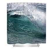 Green Cresting Wave, Hawaii Shower Curtain