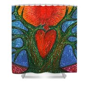 Greeting Of Joy Shower Curtain