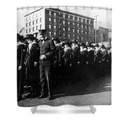 Group Women Females In Navy Circa 1918 Black Shower Curtain
