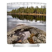 Haukkajarvi Landscape Shower Curtain
