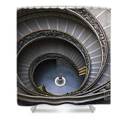 Heart Of The Vatican Museum Shower Curtain by Sandra Bronstein