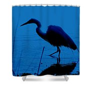 Heron In Water Shower Curtain