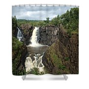 High Falls Grand Portage Mn Shower Curtain