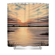 Highlights Of A Sunset Shower Curtain