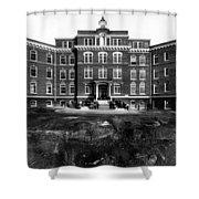 Hospital 1912 Black White 1910s Archive Brick Shower Curtain