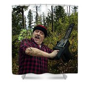 I Am A Lumberjack I Am Ok Shower Curtain