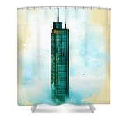 Illustration Of  Trump Tower Shower Curtain
