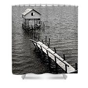 Indian River Pier Shower Curtain