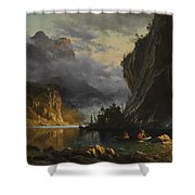 Indians  Spear  Fishing  Shower Curtain