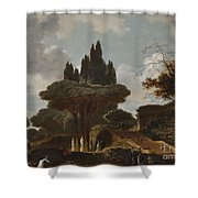 Italian Landscape With Stairs Shower Curtain