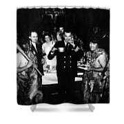 Jack Dempsey In Naval Uniform People Caveman Shower Curtain