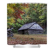Jim Bales Place Barn Along Roaring Fork Motor Trail Shower Curtain
