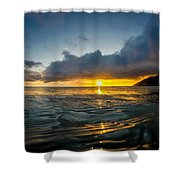 Kaena Point Sunset Shower Curtain