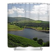 Kinder Reservoir From White Brow Shower Curtain