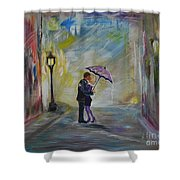 Kiss Me Taxi Is Here Shower Curtain