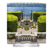Lake Como,villa Carlotta, Italy Shower Curtain