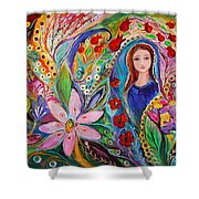 Leah And Flower Of Mandragora Shower Curtain