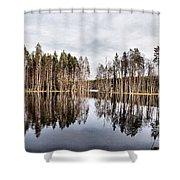 Liesilampi Panorama Shower Curtain