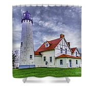 Lighthouse At Point Iroquois Shower Curtain