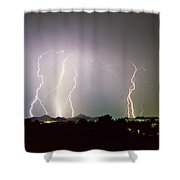 Lightning Thunderstorm View From Oaxaca Restaurant   Shower Curtain