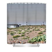 Lights On At The Lighthouse Shower Curtain