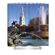 London - Trafalgar Square  Shower Curtain