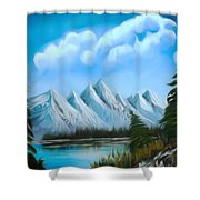 Lost Blue Lagoon Dreamy Mirage Shower Curtain