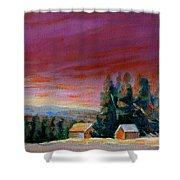 Lovely Sweeping Skies  Shower Curtain