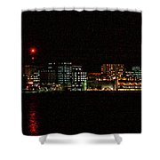 Madison Wi Skyline At Night Shower Curtain