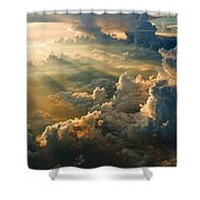 Man's Celestial Choir Shower Curtain