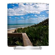 Melbourne Beach On The East Coast Of Florida Shower Curtain