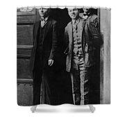 Men Males In Suits Standing Doorway June 1927 Shower Curtain
