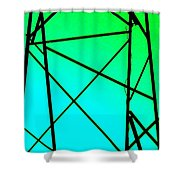 Metal Frame Abstract Shower Curtain