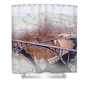 Mike O'callaghan Pat Tillman Memorial Bridge Shower Curtain