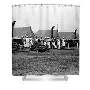 Military Cooks Next Stoves Tents Wood Circa 1910 Shower Curtain