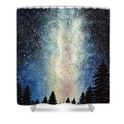 Milky Way At Night Shower Curtain
