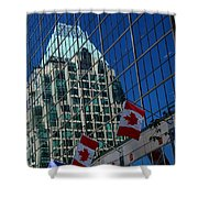 Modern Architecture - City Reflection Vancouver  Shower Curtain