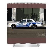 Montreal Police Car Poster Art Shower Curtain
