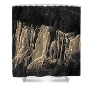Mountain Side Ice Shower Curtain