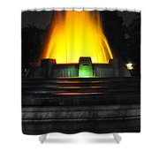 Mulholland Fountain Reflection Shower Curtain by Clayton Bruster