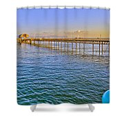 Mumbles Pier And Lifeboat Station Shower Curtain