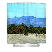 New Mexico Mountains Shower Curtain