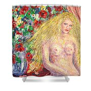 Nude Fantasy Shower Curtain by Natalie Holland