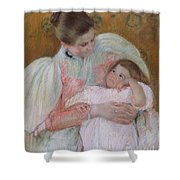Nurse And Child Shower Curtain