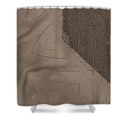 Oak Leaf Abstract Shower Curtain