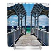 Oceanfront Pavilion Shower Curtain