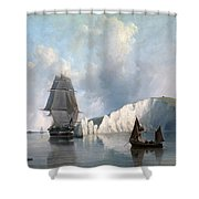Off The Needles. Isle Of Wight Shower Curtain