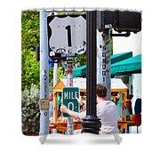 # One Stolen Sign Key West  Shower Curtain