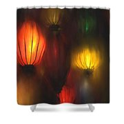 Orange Lantern Shower Curtain