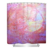 5. Orange, Red, And Yellow 'sun' Glaze Painting Shower Curtain